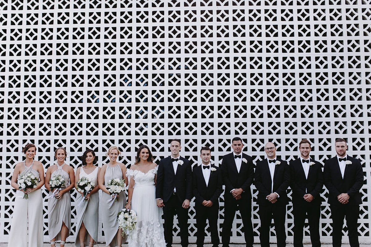 Real Weddings | Vinka Design | Real Brides Wearing Vinka Gowns | Candice and Michael bridal party at Ataahua Gardens Venue in Tauranga