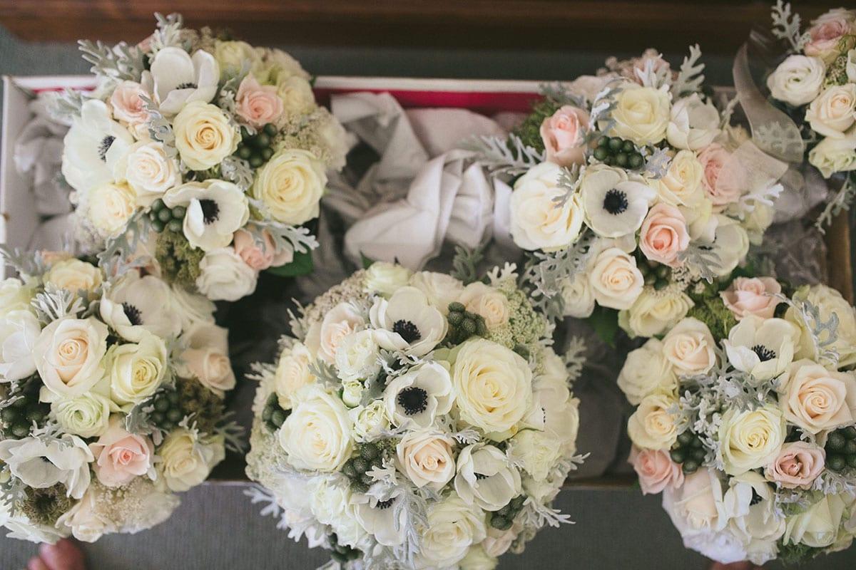 Real Weddings | Vinka Design | Real Brides Wearing Vinka Gowns | Kat and Logan - wedding flowers