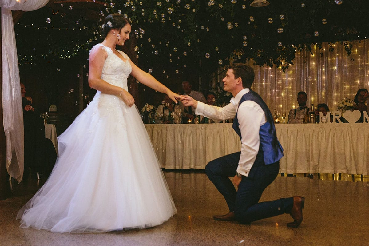 Real Weddings | Vinka Design | Real Brides Wearing Vinka Gowns | Kat and Logan first dance at reception