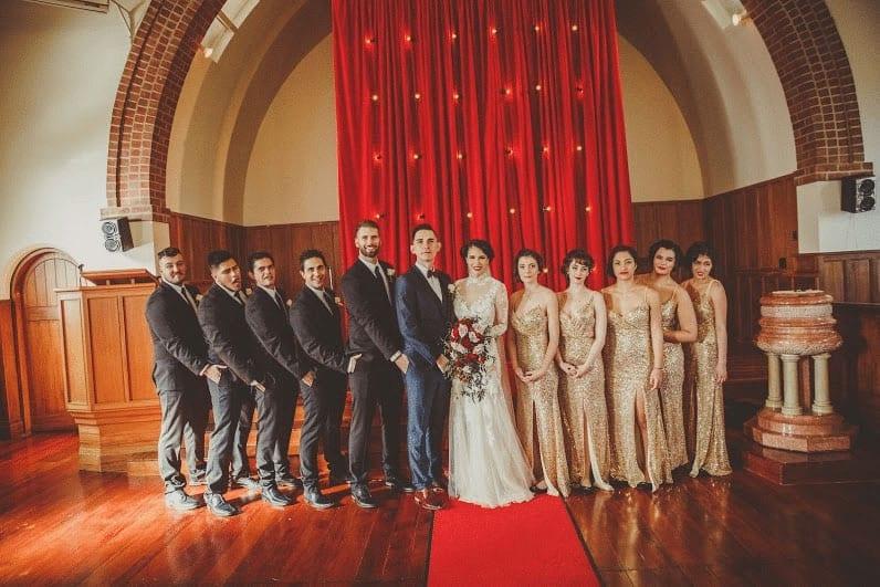 Real Weddings | Vinka Design | Real Brides Wearing Vinka Gowns | Cecilia and Brendan bridal party