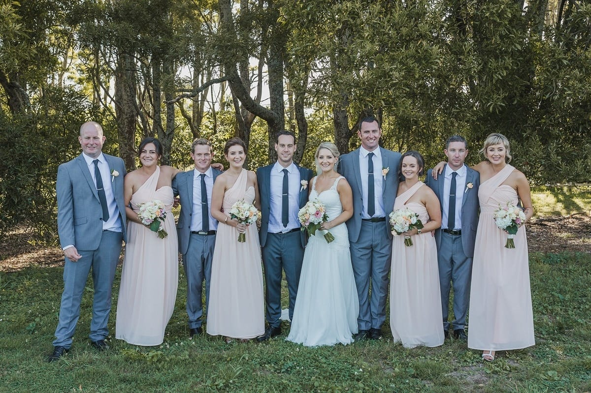 Real Weddings | Vinka Design | Real Brides Wearing Vinka Gowns | Sophie and Auldan outdoor bridal party