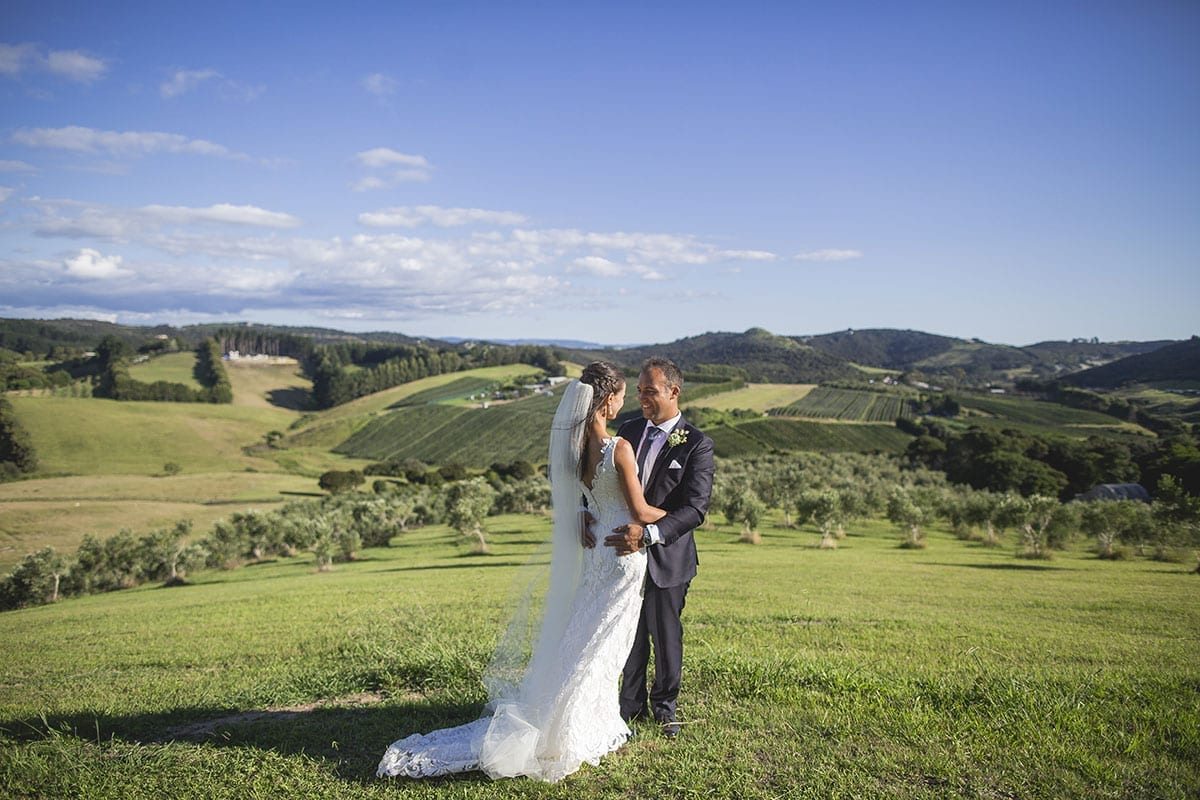 Real Weddings | Vinka Design | Real Brides Wearing Vinka Gowns | Clare and Mark in countryside fields