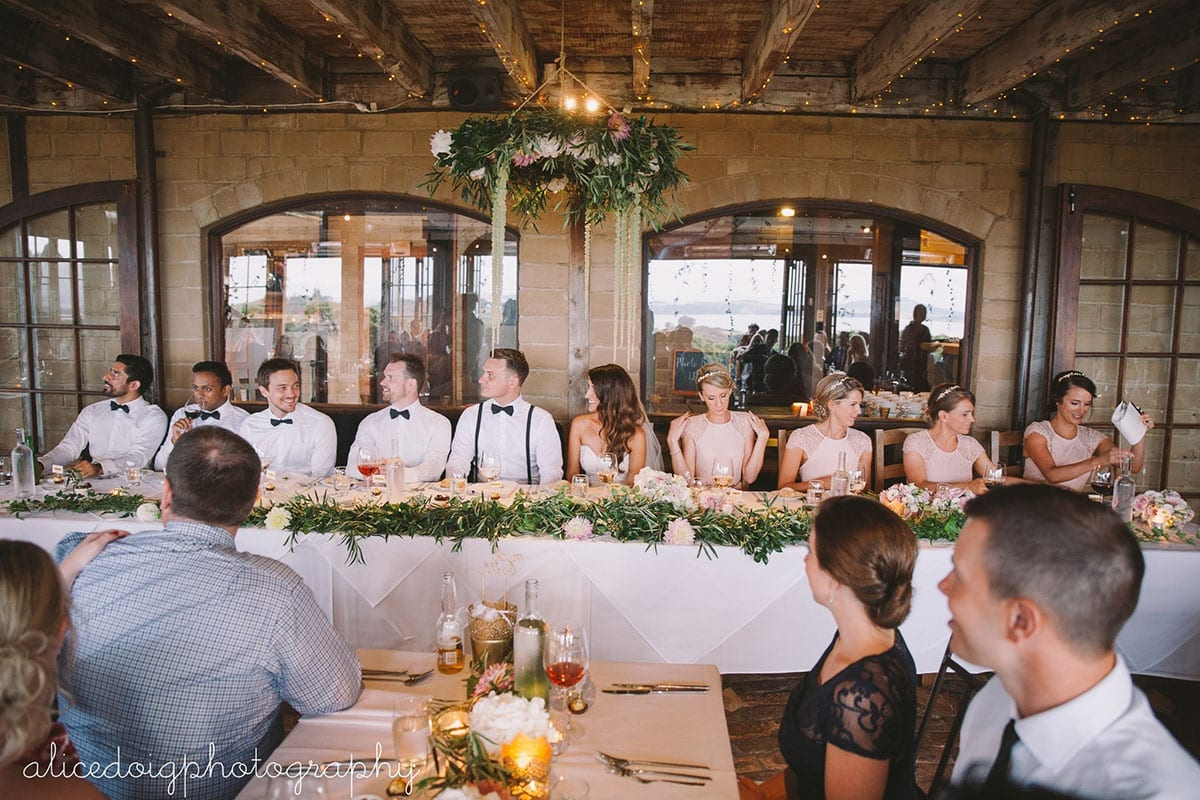 Real Weddings | Vinka Design | Real Brides Wearing Vinka Gowns | Gemma and Colin wedding reception bridal table