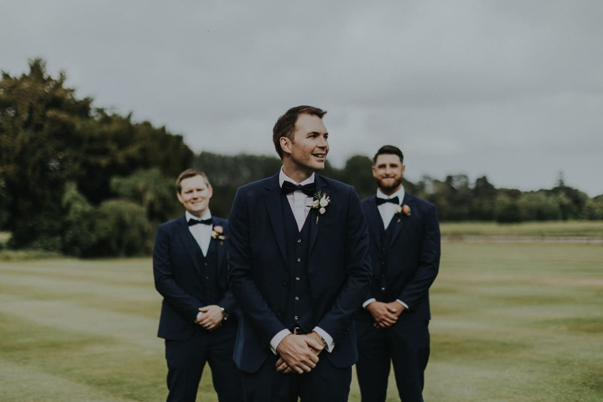 Real Weddings | Vinka Design | Real Brides Wearing Vinka Gowns | Paige and Ciaran groom and groomsmen