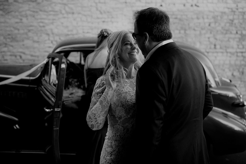 Vinka Design Features Real Weddings - Vinka Design Features Real Weddings - Jan in custom designed wedding dress with husband Steve