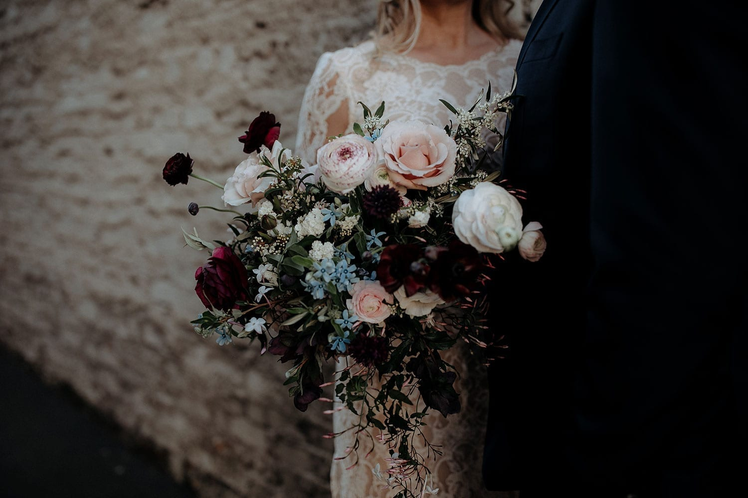 Vinka Design Features Real Weddings - Vinka Design Features Real Weddings - Jan in custom designed wedding dress with bouquet