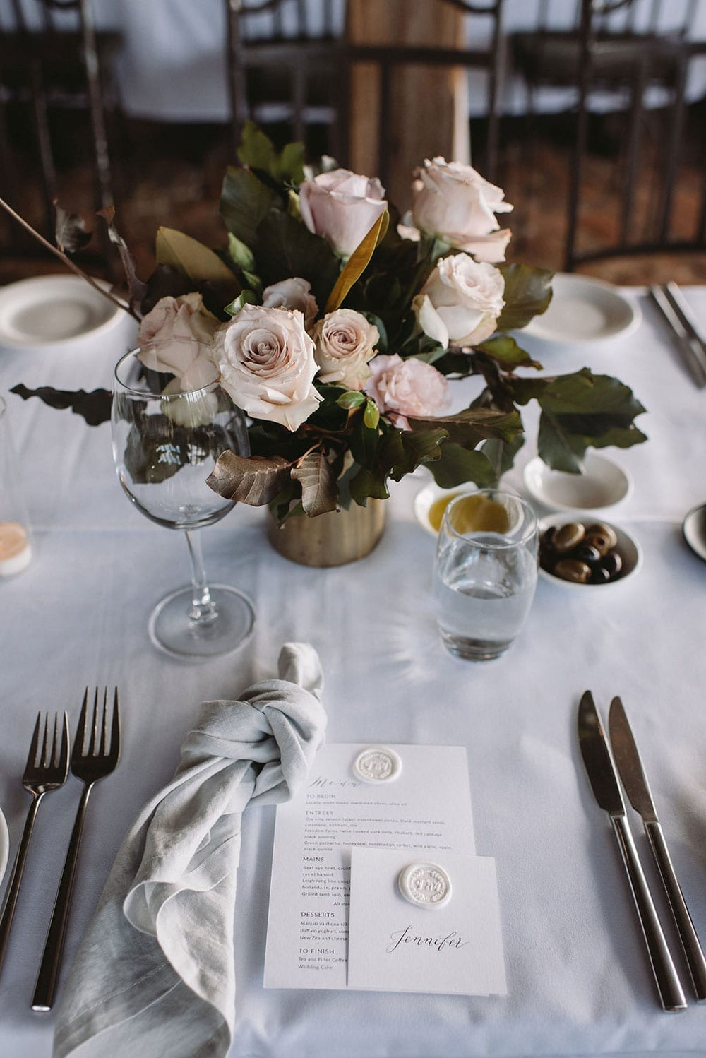 Vinka Design Features Real Weddings - reception place setting