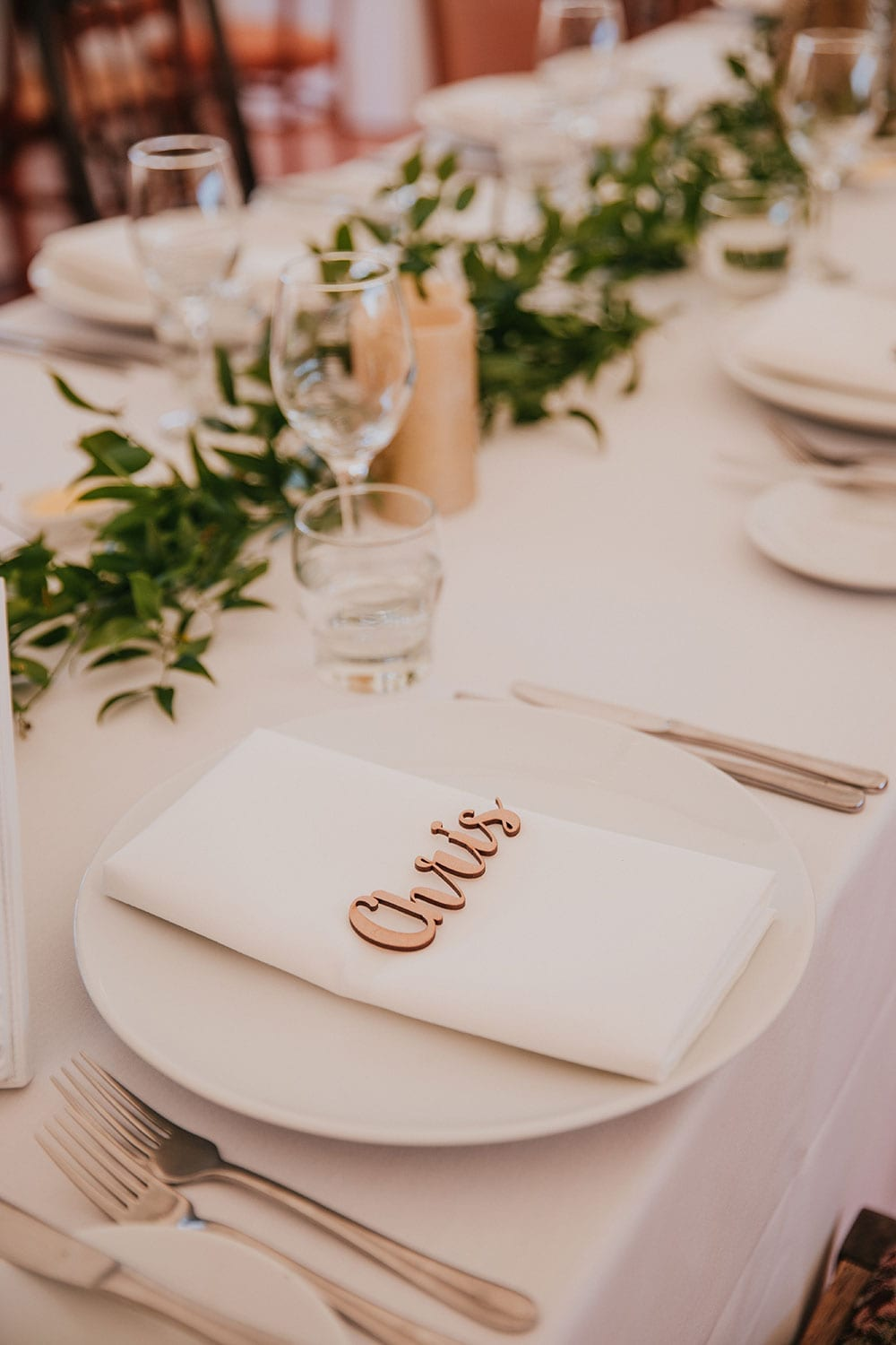 Vinka Design Features Real Weddings - place settings at reception