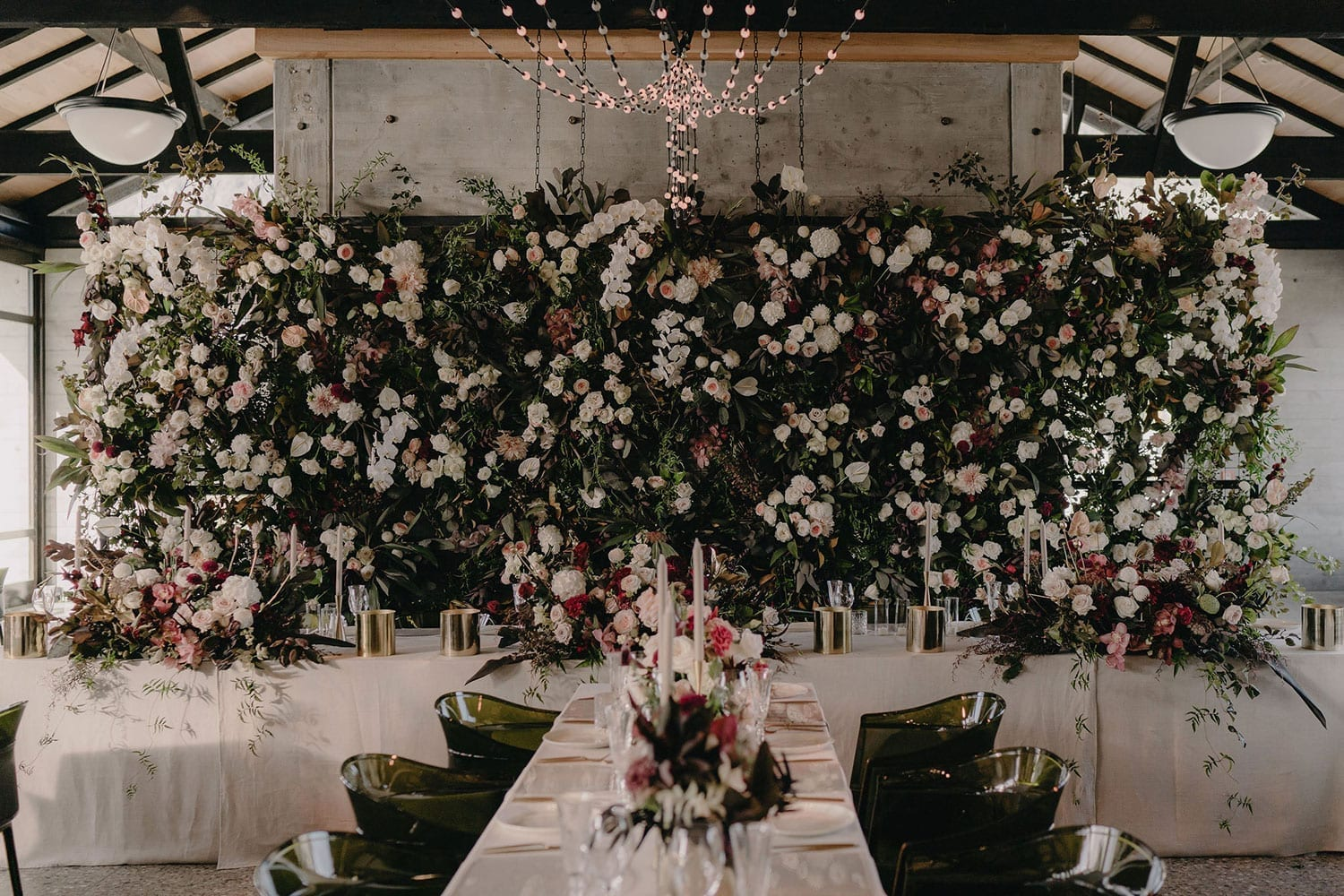 Vinka Design Features Real Weddings - wedding reception flower board