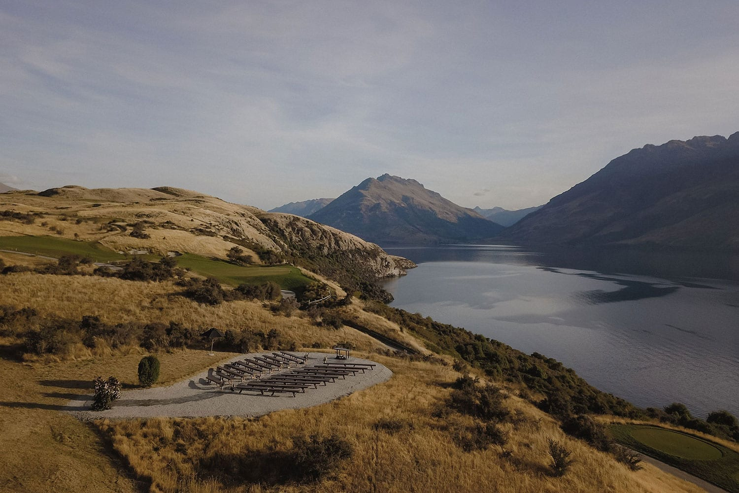 Vinka Design Features Real Weddings - outdoor ceremony set up with panoramic scenic views in New Zealand