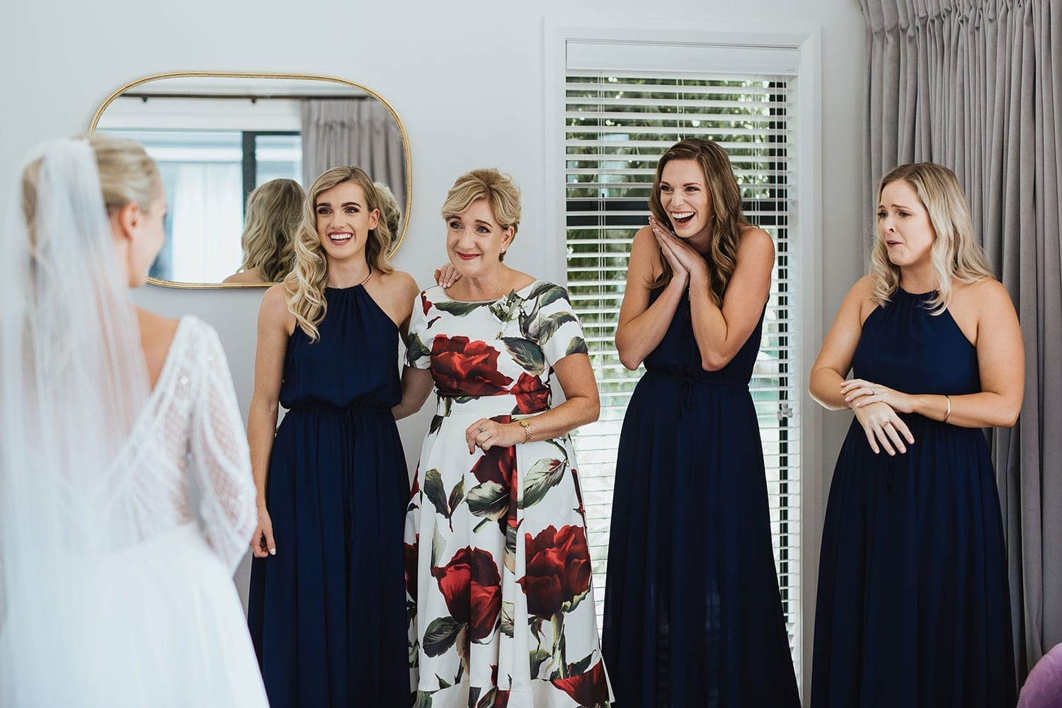 Vinka Design Features Real Weddings - bridesmaids and Mum react to seeing bride in dress