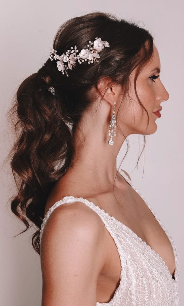 Vinka Design Bridal Accessories - Bridal headpiece - Ari-rose gold - available from Vinka Design Auckland bridal store.