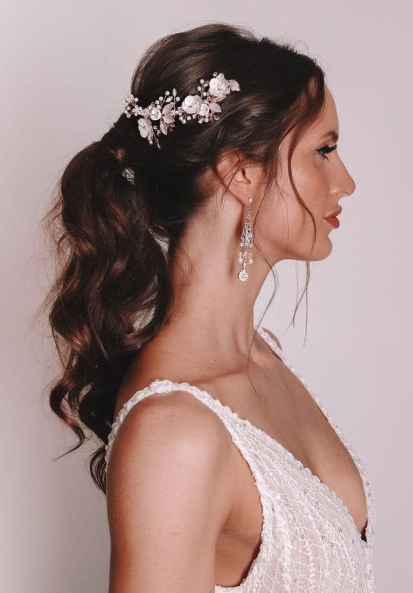 Vinka Design Bridal Accessories - Bridal headpiece - Ari-rose gold - available from Vinka Design Auckland bridal store.