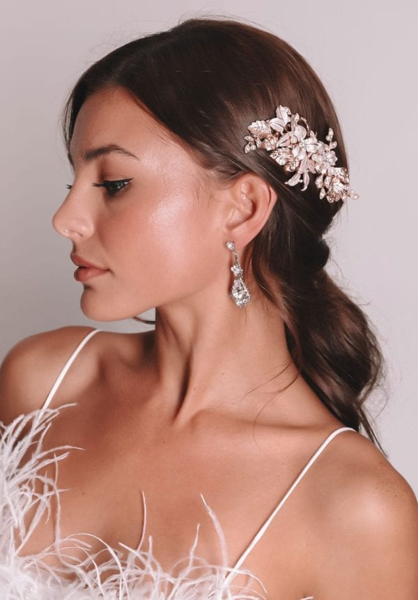 Vinka Design Bridal Accessories - Bridal headpiece - Ava - Rose gold - available from Vinka Design Auckland bridal store. Headband, tiara