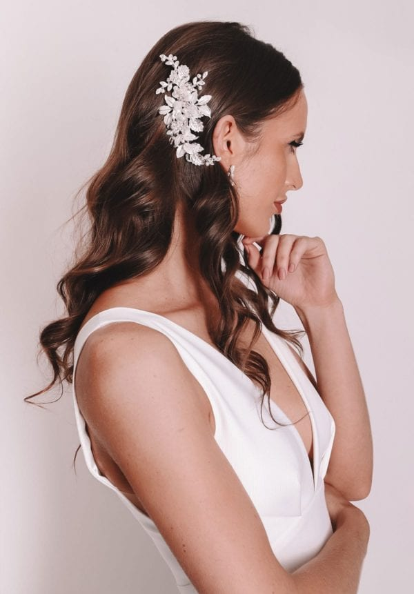 Vinka Design Bridal Accessories - Bridal headpiece - Ava - Silver - available from Vinka Design Auckland bridal store. Headband, tiara