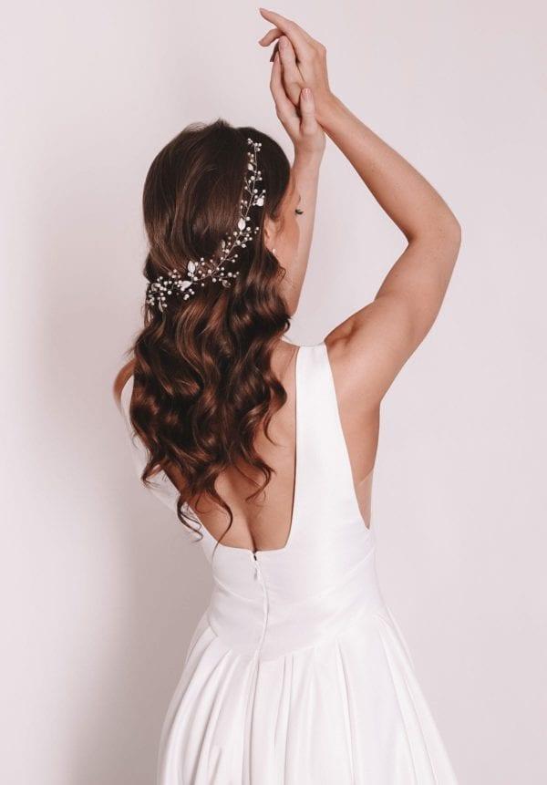 Vinka Design Bridal Accessories - Bridal headpiece - Mila - Vine, Floral, flowers - available from Vinka Design Auckland bridal store. Hair vine, headband