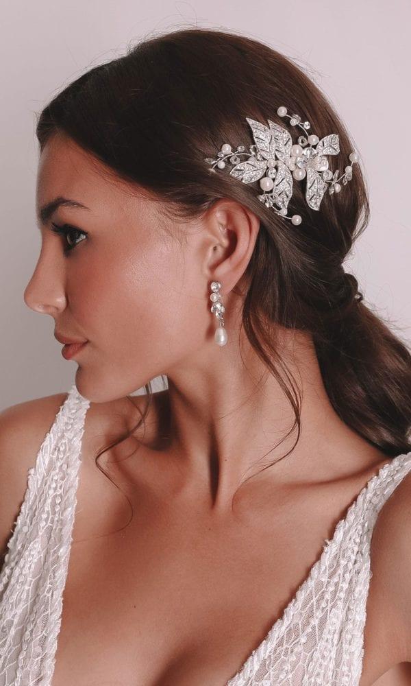 Vinka Design Bridal Accessories - Bridal headpiece - Rosalie - available from Vinka Design Auckland bridal store.