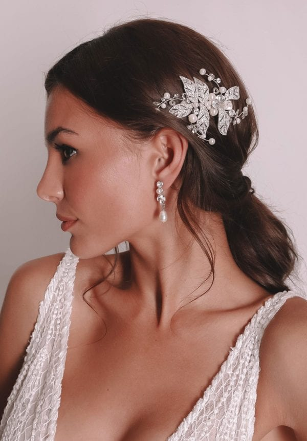 Vinka Design Bridal Accessories - Bridal headpiece - Rosalie - available from Vinka Design Auckland bridal store.