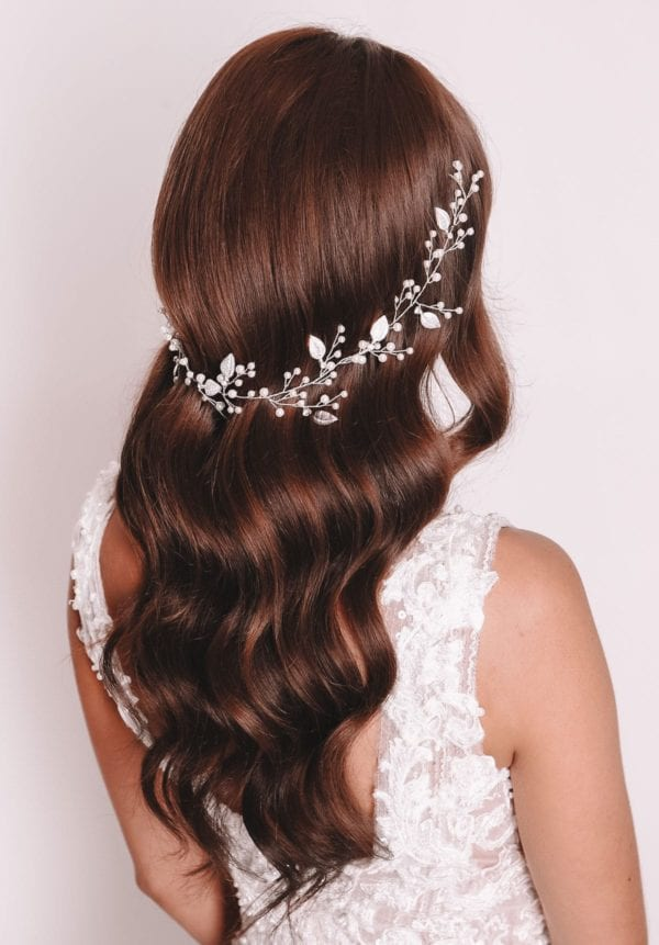 Vinka Design Bridal Accessories - Bridal headpiece - Sage - Hair vine, headband - available from Vinka Design Auckland bridal store.