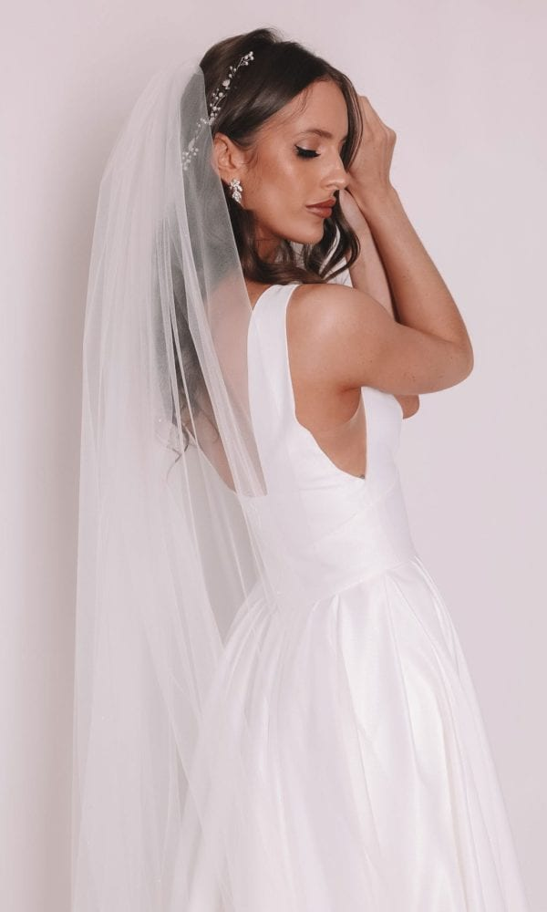 Vinka Design Bridal Accessories - Bridal veil - Adele - custom made veil available from Vinka Design Auckland bridal store.