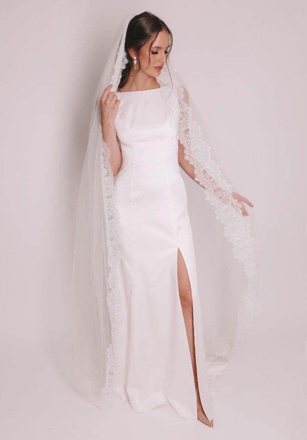 Vinka Design Bridal Accessories - Bridal veil - Andrea - custom made veil available from Vinka Design Auckland bridal store.