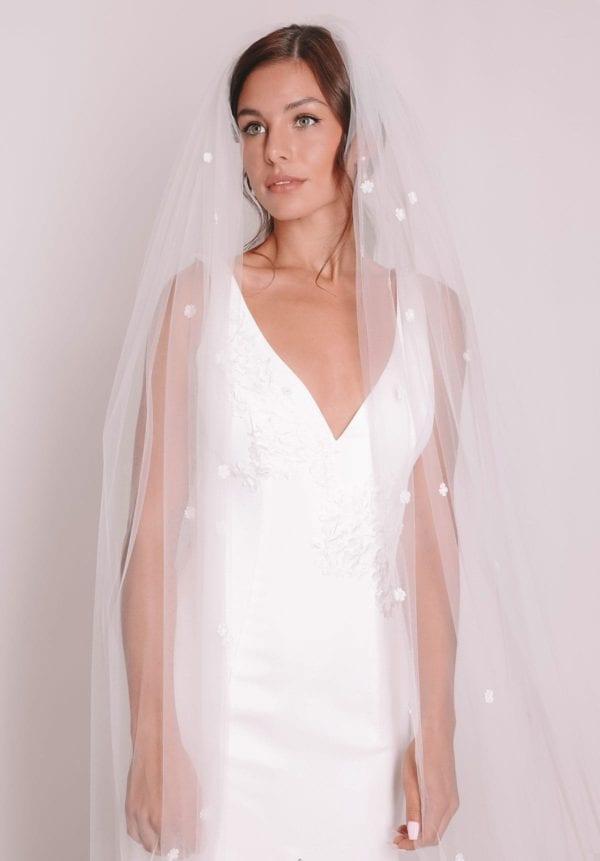 Vinka Design Bridal Accessories - Bridal veil - Clarissa - custom made veil available from Vinka Design Auckland bridal store.