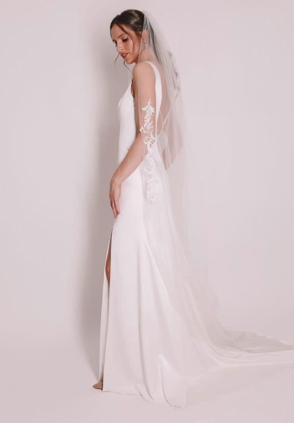Vinka Design Bridal Accessories - Bridal veil - Elisa - custom made veil available from Vinka Design Auckland bridal store.
