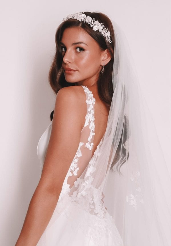 Vinka Design Bridal Accessories - Bridal veil - Illaria - custom made veil available from Vinka Design Auckland bridal store.