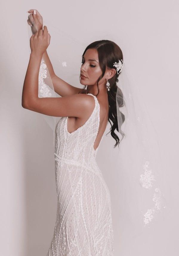 Vinka Design Bridal Accessories - Bridal veil - Marcella - custom made veil available from Vinka Design Auckland bridal store.
