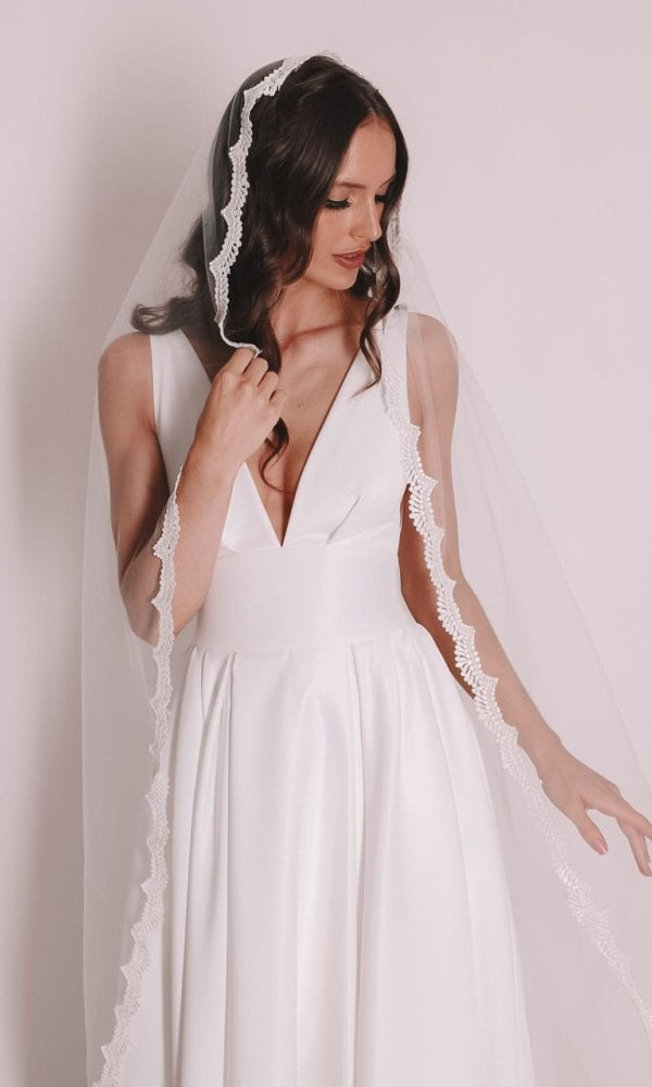 Vinka Design Bridal Accessories - Bridal veil - Maria - custom made veil available from Vinka Design Auckland bridal store.