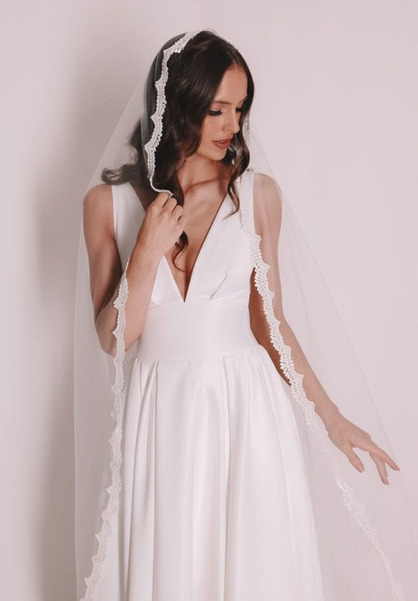 Vinka Design Bridal Accessories - Bridal veil - Maria - custom made veil available from Vinka Design Auckland bridal store.