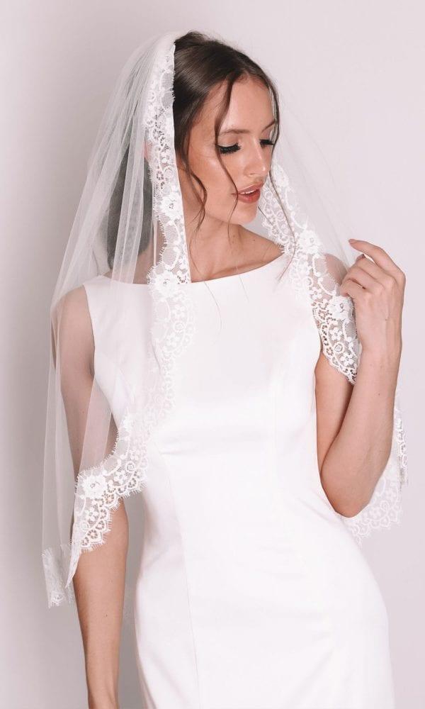 Vinka Design Bridal Accessories - Bridal veil - Rosalie - custom made veil available from Vinka Design Auckland bridal store.