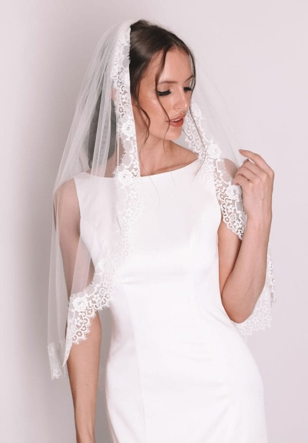 Vinka Design Bridal Accessories - Bridal veil - Rosalie - custom made veil available from Vinka Design Auckland bridal store.