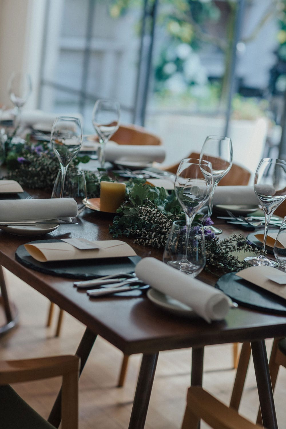 Vinka Design Features Real Weddings - reception table settings at the French Kitchen