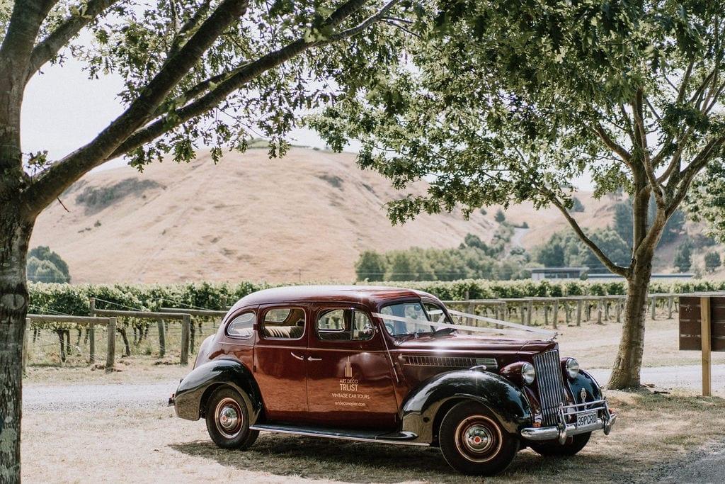Vinka Design Features Real Weddings - vintage wedding car