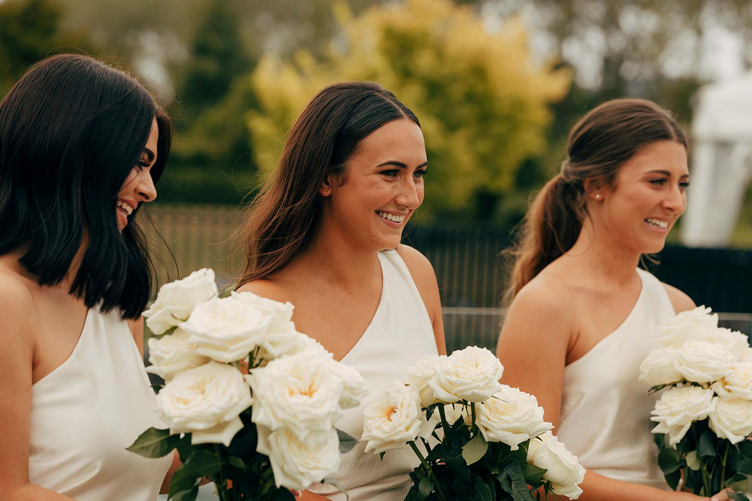Vinka Design Bridal Wear features Real Wedding Matt and Emilia - bridesmaids