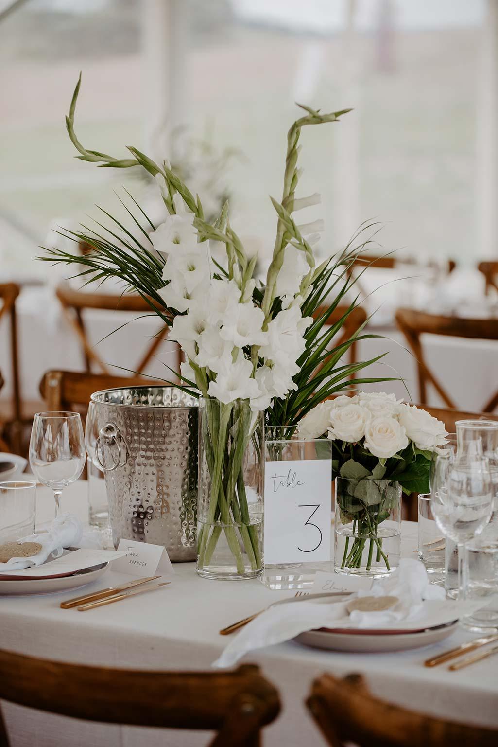 Vinka Design Features Real Weddings - wedding reception tables set up