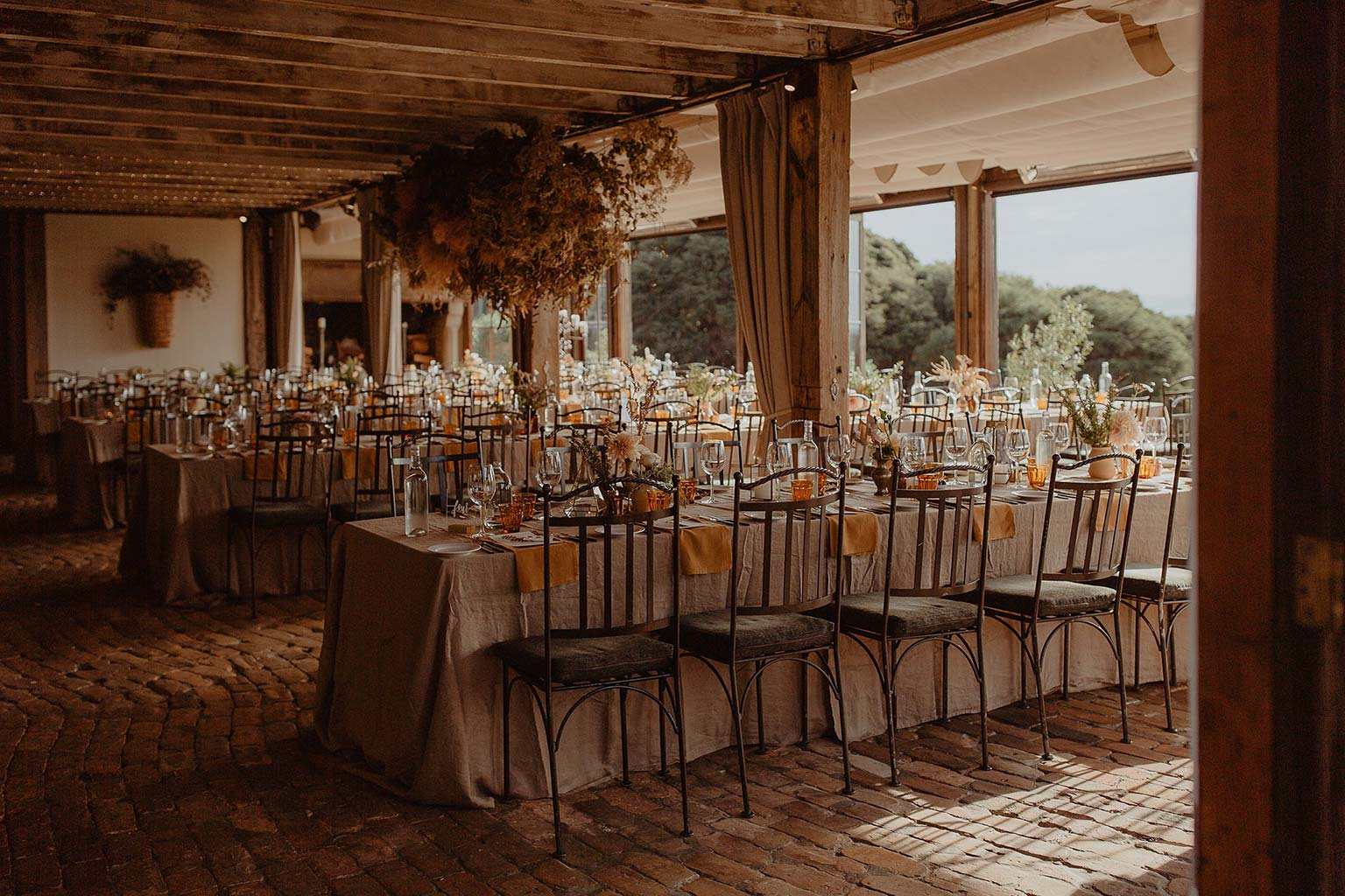 Vinka Design Features Real Weddings - Mudbrick Vineyard reception set up