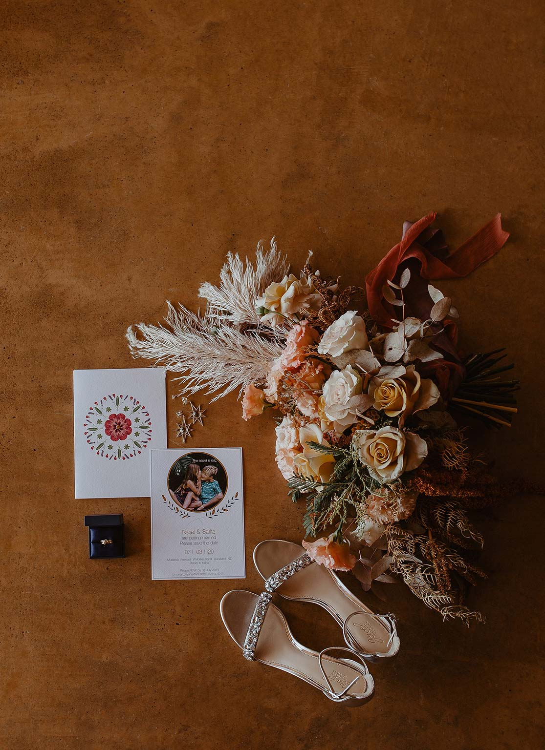 Vinka Design Features Real Weddings - wedding flowers, invitation, bridal shoes and ring
