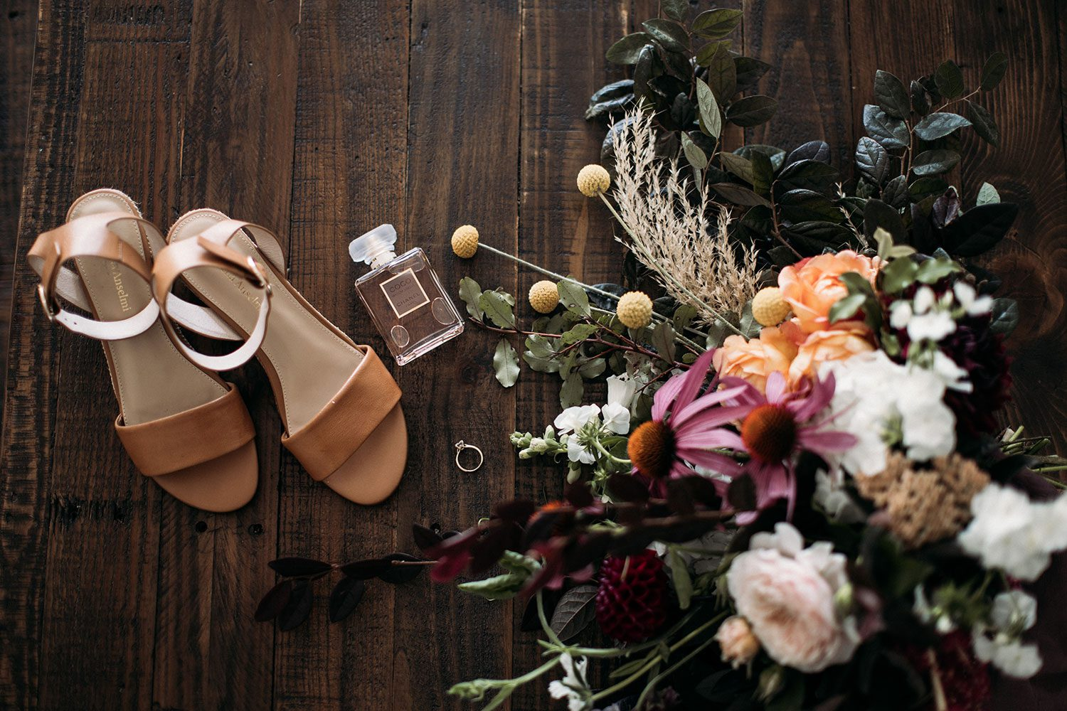 Cam and Katie - shoes and bouquet
