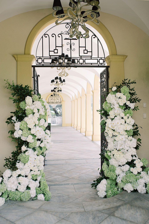 Fiona and David - Doorway flowers