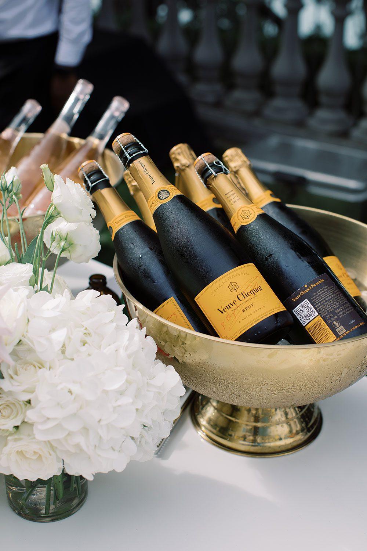 Fiona and David - champagne