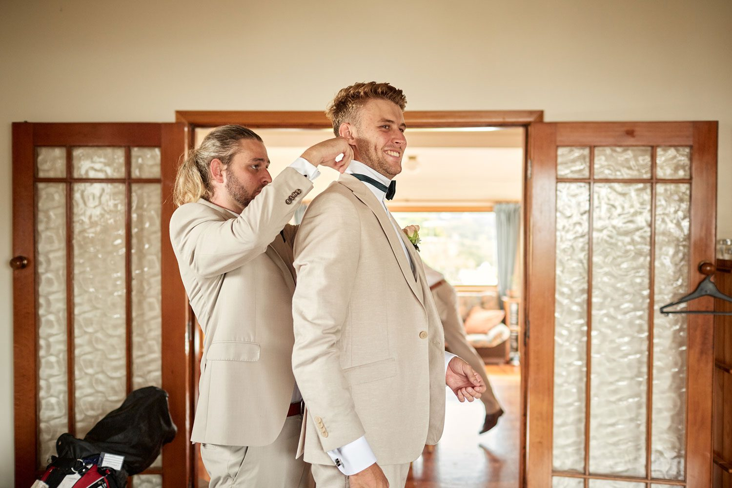 Emma and Marty - groom and groomsmen getting ready