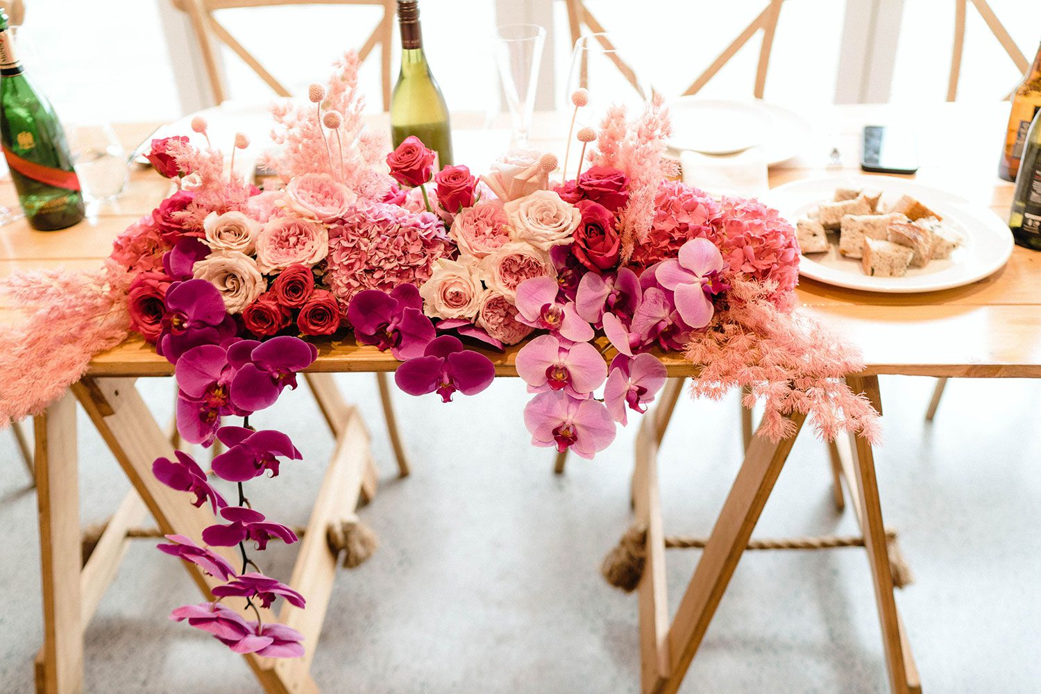 Darby and Shaun - head table flowers